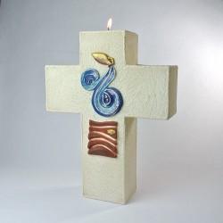 Cierge-Croix d'Autel Baptême