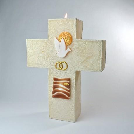Cierge-Croix d'Autel Mariage
