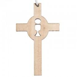 Croix de communion simple bois
