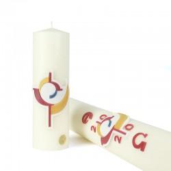Cierge pour l'autel assorti déco. 5